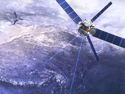 Conexão via satélite
