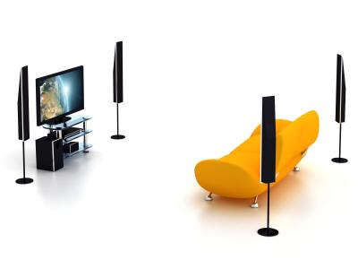 Prepare um ambiente especial para sua televisão.