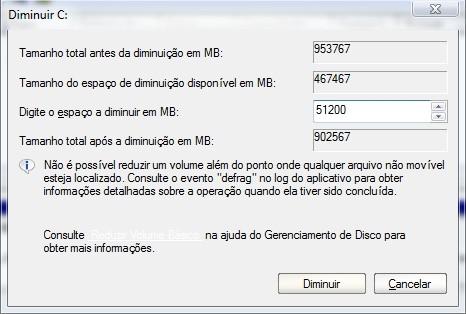 Criando uma partição no Windows 7 12999