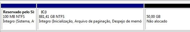 Criando uma partição no Windows 7 13000