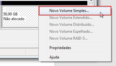 Criando uma partição no Windows 7 13001