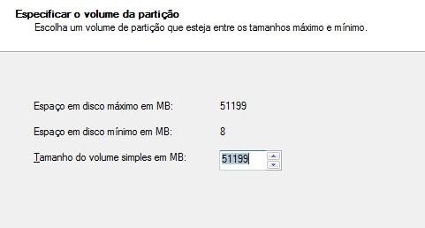 Criando uma partição no Windows 7 13003