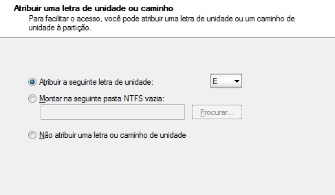 Criando uma partição no Windows 7 13004