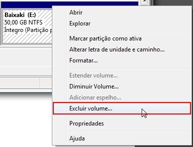 Criando uma partição no Windows 7 13008