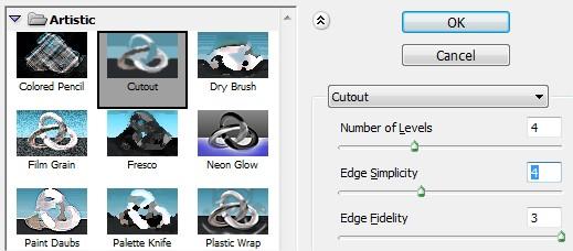 Aplique o filtro cutout
