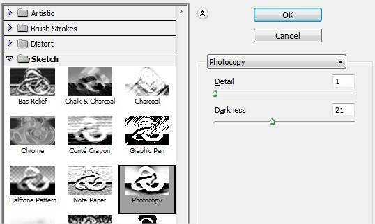 Aplicar filtro Photocopy