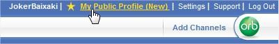 Meu perfil