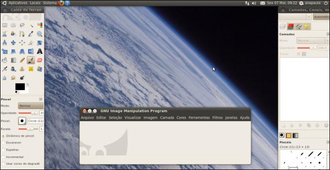 Imagens do Ubuntu, uma distribuição do Linux