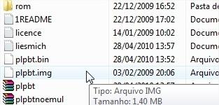 Grave o arquivo .img no disquete
