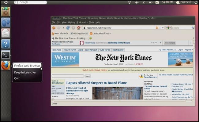 Nova interface para o Ubuntu