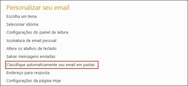 Personalizando email