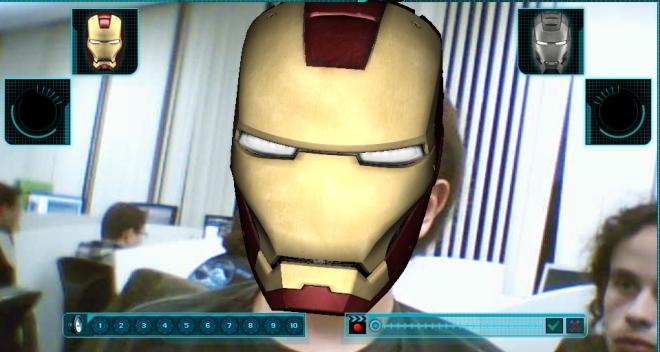 Realidade aumentada do Homem de Ferro
