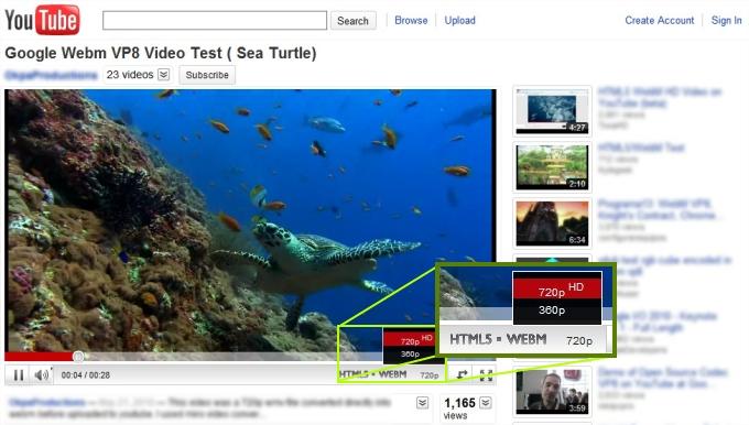 Vídeos de alta definição com o HTML5 e o WebM