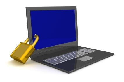Seu laptop em segurança.