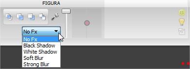 Barra de tarefas: opções de configuração de imagem.