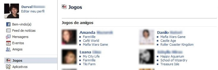 Jogos do Facebook