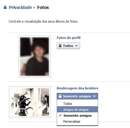 Privacidade em fotos