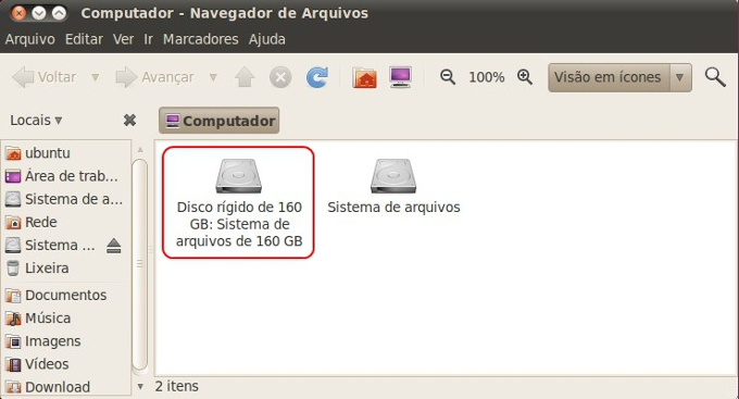 Acesse os arquivos do disco diretamente do Live CD do Ubuntu