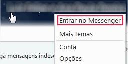 Reconectando-se ao MSN pelo nome de usuário