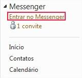 Reconectando-se ao MSN pelas opções do Hotmail