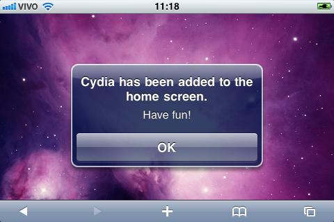 Cydia adicionado.