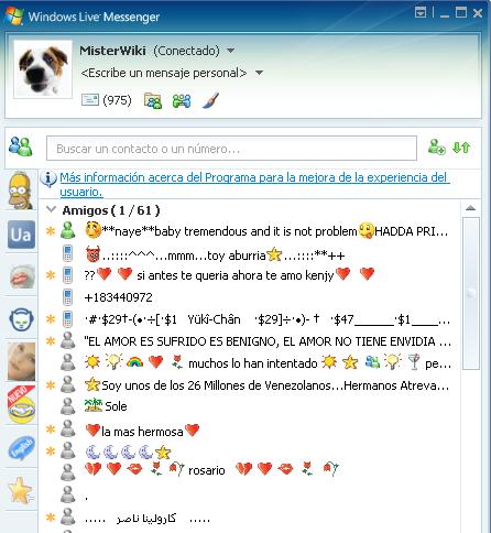 Emoticons do mensageiro do msn do burro
