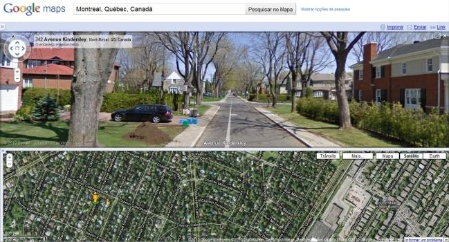Visualização de ruas.
