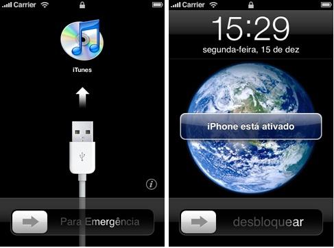 As mesmas telas que você visualizou a primeira vez que mexeu em seu iPhone.
