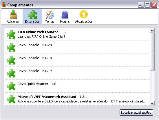 Extensões Firefox