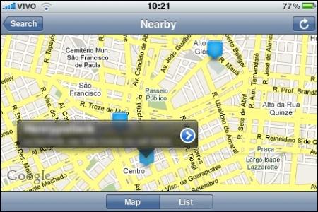 Uso da geolocalização no Twitter.