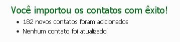 O Windows Live avisa se a operação foi concluída com sucesso