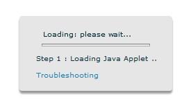 Se não sair desta tela, instale o Java