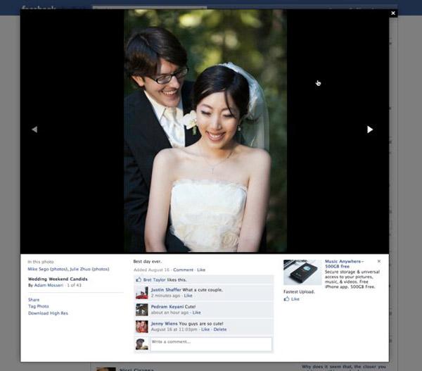 Nova interface do Facebook para visualização de imagens