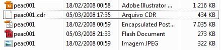 O Windows exibe automaticamente a extensão de arquivos desconhecidos
