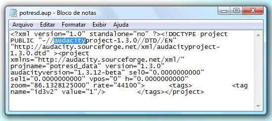 Em meio aos códigos está o aplicativo usado para gerar o arquivo