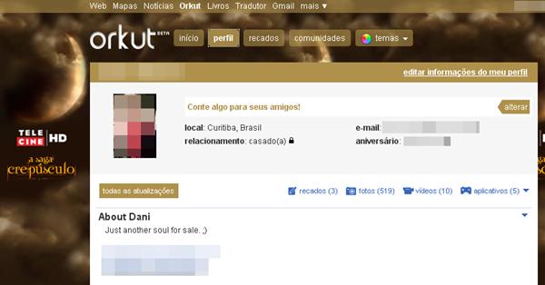 Tema no Orkut.