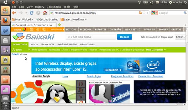 Ubuntu Netbook e Firefox rodado direto do pendrive