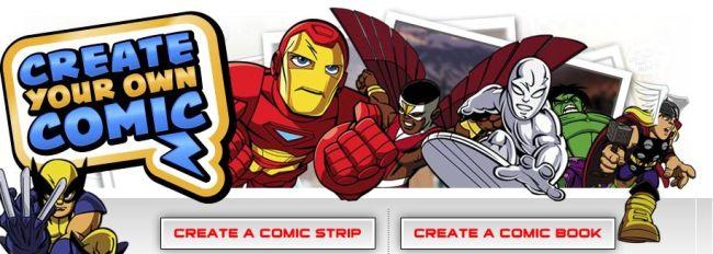 Crie sua história de super-heróis da Marvel