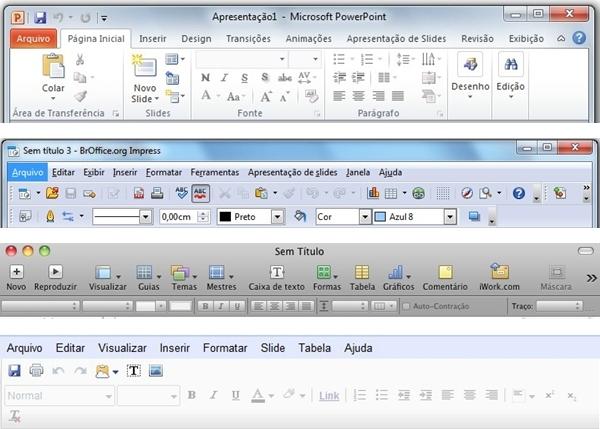 Exemplo das interfaces