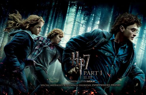 Cartaz da primeira parte de Harry Potter e as Relíquias da Morte