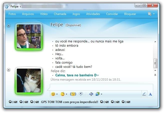 Muita confusão no MSN