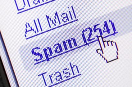 Foi para o spam