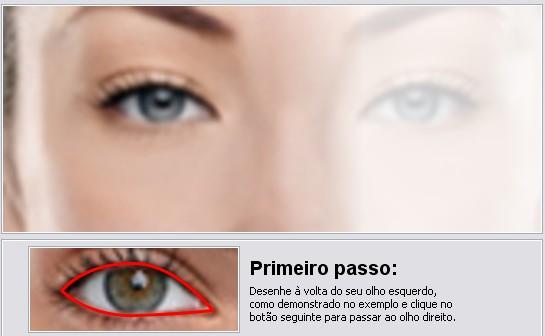 Contorno dos olhos no jKiwi.