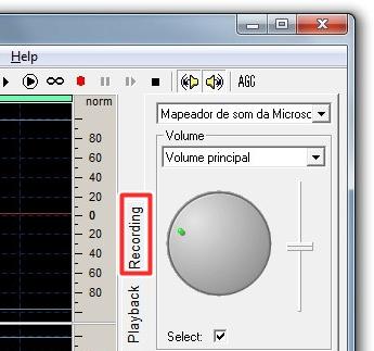 Configure o microfone no EXPStudio.