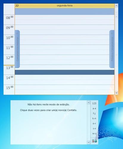 Mais de uma janela do Outlook na Área de trabalho