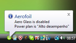Desabilitando Aero Glass