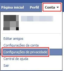 Acesse suas configurações de privacidade.