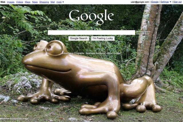 Plano de fundo do Google personalizado.