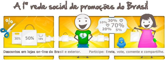 Primeira rede social de promoções do Brasil.