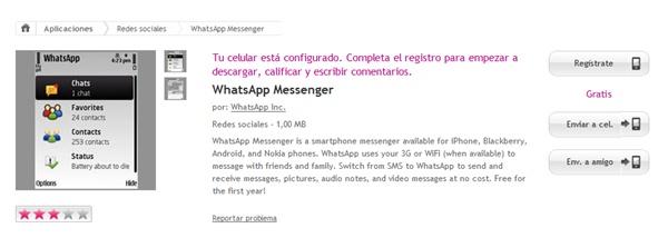 WhatsApp na Ovi Store